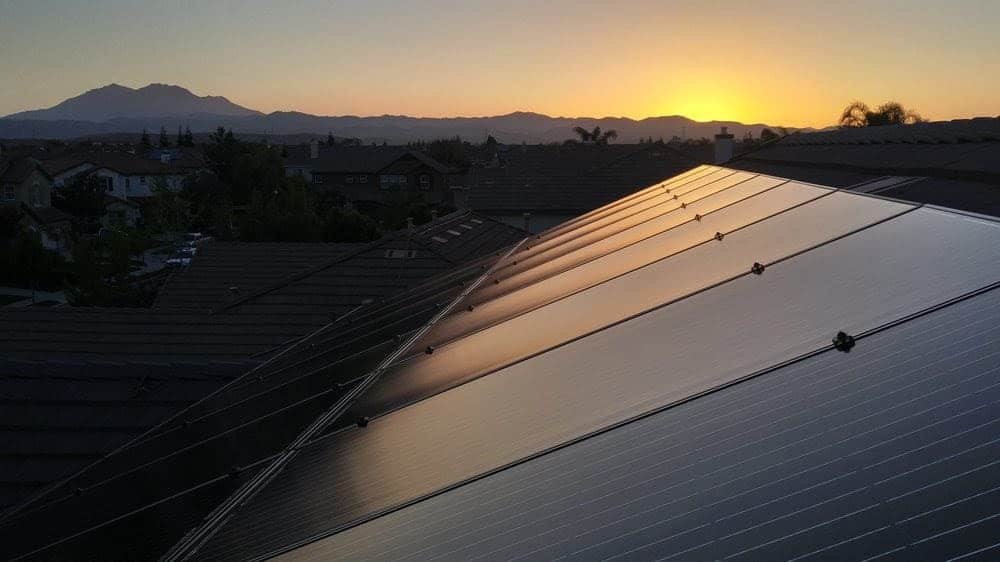 Solar array in Sonoma County