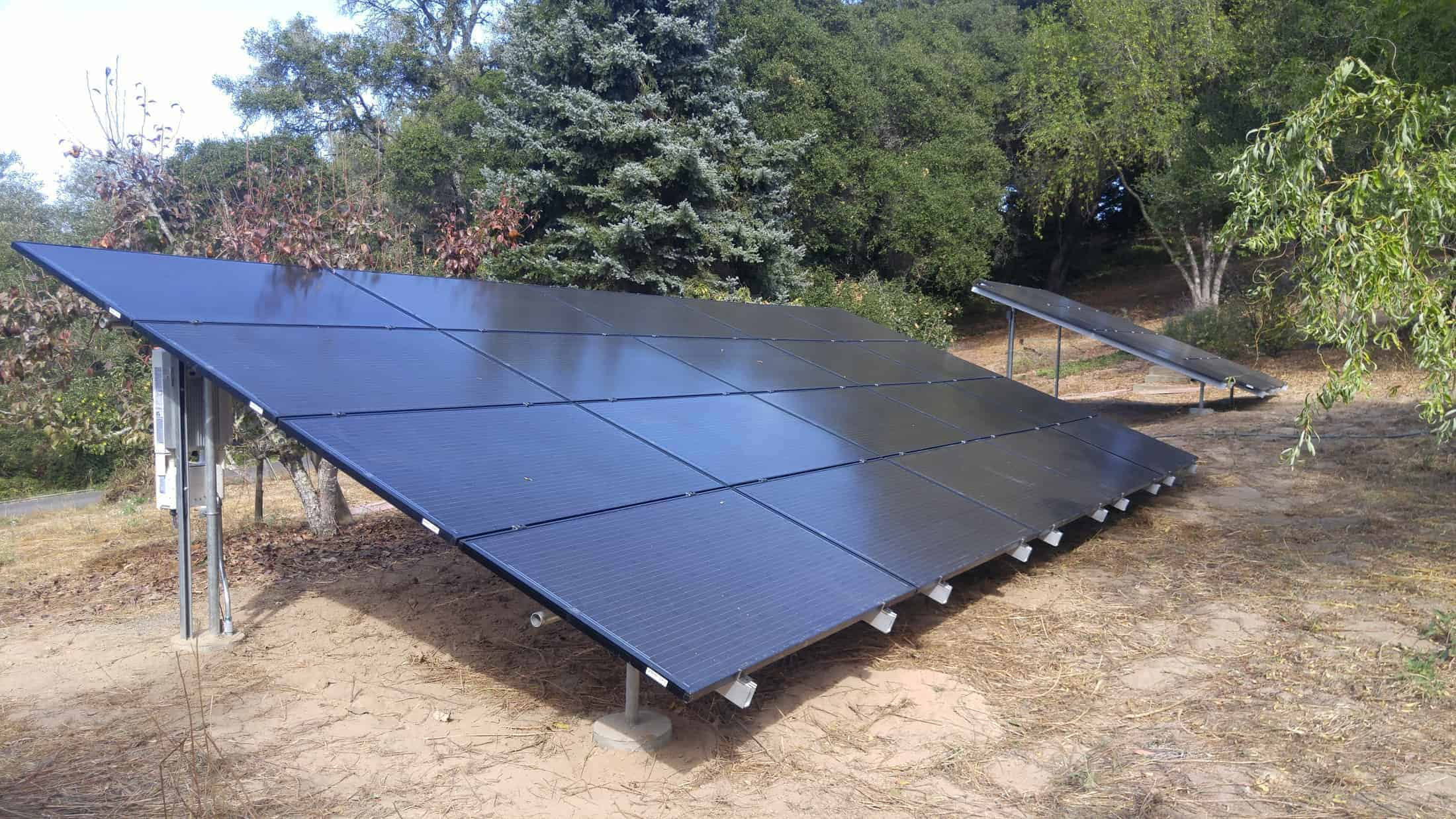 Another ground mount solar installation by Michael & Sun Solar.